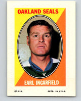 1970-71 Topps Sticker Stamps #15 Earl Ingarfield  Oakland Seals  V8670