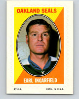 1970-71 Topps Sticker Stamps #15 Earl Ingarfield  Oakland Seals  V8671