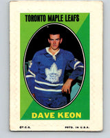 1970-71 Topps Sticker Stamps #17 Dave Keon  Toronto Maple Leafs  V8673