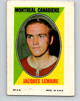 1970-71 Topps Sticker Stamps #19 Jacques Laperriere  Montreal Canadiens  V8675