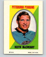 1970-71 Topps Sticker Stamps #22 Keith McCreary  Pittsburgh Penguins  V8677