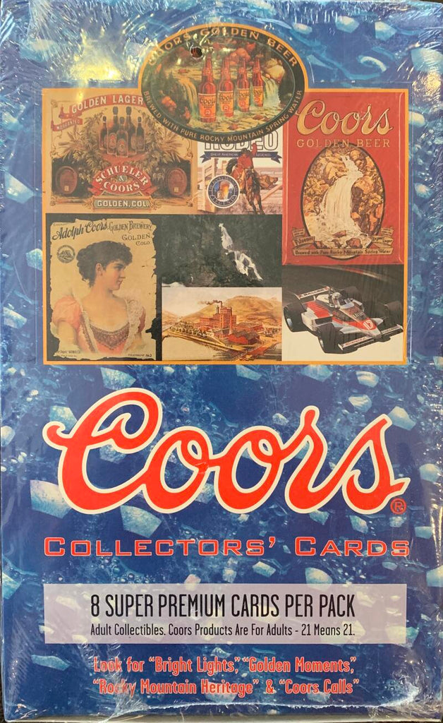 1995 Coors Beer Collectors Cards Hobby Sealed Box - 36 Packs