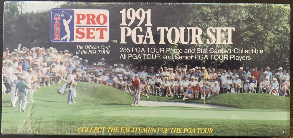 1991 PGA Golf Tour Pro Set Factory Sealed Set - 285 Cards