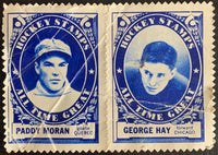 V8846--1961-62 Topps Stamps NHL Hockey Paddy Moran/George Hay