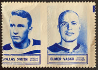 V8847--1961-62 Topps Stamps NHL Hockey Dalls Smith/Elmer Vasko