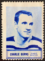 V8860--1961-62 Topps Stamps NHL Hockey Charlie Burns