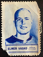 V8862--1961-62 Topps Stamps NHL Hockey Elmer Vasko