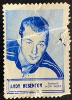 V8863--1961-62 Topps Stamps NHL Hockey Andy Hebenton
