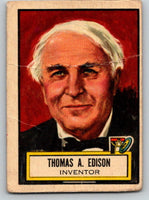 1952 Topps Look 'n See #71 Thomas A. Edison Vintage Card V8972