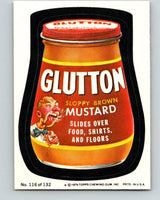 1979 Wacky Packages - #116 Glutton Sloppy Brown Mustard V9995