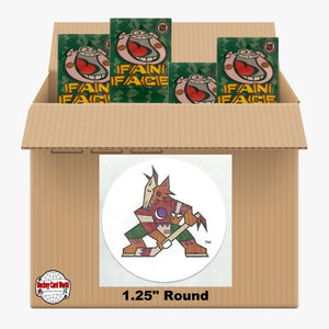 Arizona Coyotes 500 pack case - 4 Logos pack - 2000 Stickers