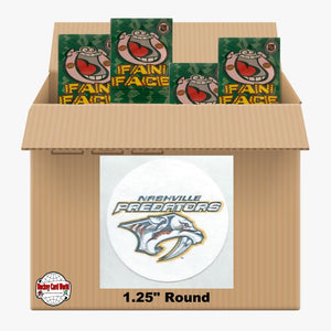 Nashville Predators 810 pack case - 4 Logos pack - 3240 Stickers