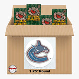 Vancouver Canucks 1350 pack case - 4 Logos pack - 5400 Stickers
