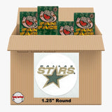 Dallas Stars 1300 pack case - 4 Logos pack - 5200 Stickers