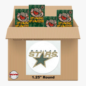 Dallas Stars 500 pack case - 4 Logos pack - 2000 Stickers