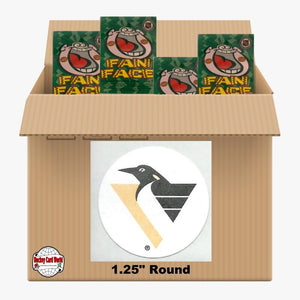 Pittsburgh Penguins 1100 pack case - 4 Logos pack - 4400 Stickers