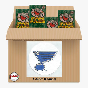 St. Louis Blues 650 pack case - 4 Logos pack - 2600 Stickers