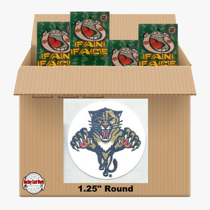 Florida Panthers 500 pack case - 4 Logos pack - 2000 Stickers