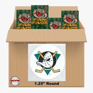 Anaheim Ducks 500 pack case - 4 Logos pack - 2000 Stickers