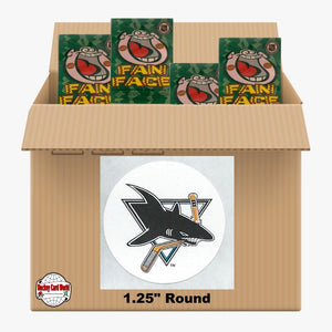 San Jose Sharks 1200 pack case - 4 Logos pack - 4800 Stickers
