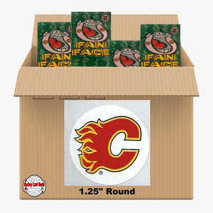 Calgary Flames 500 pack case - 4 Logos pack - 2000 Stickers
