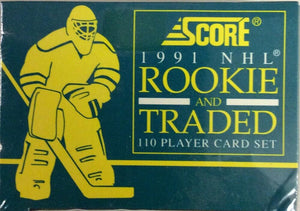 1991-92 Score Rookie Traded NHL Hockey Sealed Factory Set  - 110 Player Cards