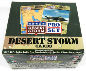 1991 Pro Set Desert Storm Factory Hobby Sealed Box - 36 packs