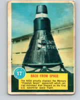 1963 Topps Astronauts #17 Back From Space V10134