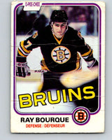 1981-82 O-Pee-Chee #1 Ray Bourque  Boston Bruins  V11603