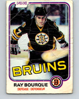 1981-82 O-Pee-Chee #1 Ray Bourque  Boston Bruins  V11604