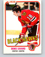 1981-82 O-Pee-Chee #63 Denis Savard  RC Rookie  Blackhawks  V11623