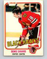 1981-82 O-Pee-Chee #63 Denis Savard  RC Rookie  Blackhawks  V11624