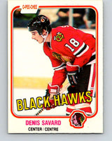 1981-82 O-Pee-Chee #63 Denis Savard  RC Rookie  Blackhawks  V11625