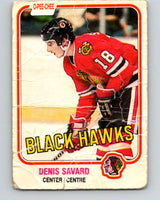 1981-82 O-Pee-Chee #63 Denis Savard  RC Rookie  Blackhawks  V11626