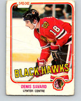 1981-82 O-Pee-Chee #63 Denis Savard  RC Rookie  Blackhawks  V11627