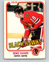 1981-82 O-Pee-Chee #63 Denis Savard  RC Rookie  Blackhawks  V11628