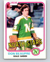 1981-82 O-Pee-Chee #159 Don Beaupre  RC Rookie North Stars   V11662