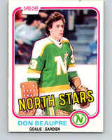 1981-82 O-Pee-Chee #159 Don Beaupre  RC Rookie North Stars   V11663