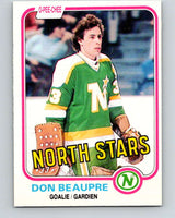 1981-82 O-Pee-Chee #159 Don Beaupre  RC Rookie North Stars   V11664