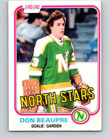 1981-82 O-Pee-Chee #159 Don Beaupre  RC Rookie North Stars   V11665