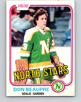 1981-82 O-Pee-Chee #159 Don Beaupre  RC Rookie North Stars   V11666