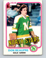 1981-82 O-Pee-Chee #159 Don Beaupre  RC Rookie North Stars   V11667