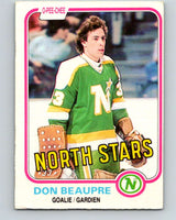 1981-82 O-Pee-Chee #159 Don Beaupre  RC Rookie North Stars   V11668