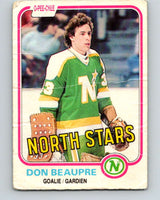 1981-82 O-Pee-Chee #159 Don Beaupre  RC Rookie North Stars   V11669