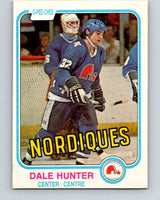 1981-82 O-Pee-Chee #277 Dale Hunter  RC Rookie Quebec Nordiques  V11692