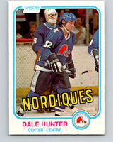 1981-82 O-Pee-Chee #277 Dale Hunter  RC Rookie Quebec Nordiques  V11694