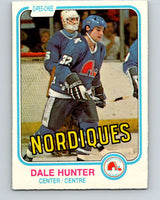 1981-82 O-Pee-Chee #277 Dale Hunter  RC Rookie Quebec Nordiques  V11696