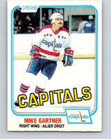 1981-82 O-Pee-Chee #347 Mike Gartner  Washington Capitals  V11698