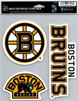 Boston Bruins NHL Multi Use 3 Pack Fan Die Cut Decals 5.5