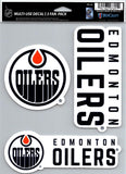 "Edmonton Oilers NHL Multi Use 3 Pack Fan Die Cut Decals 5.5"" x 7.75"""